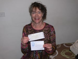 Me and the cheque!