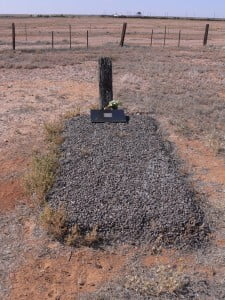Now that is one lonely grave