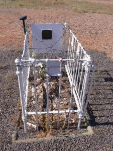 Where those fences on babies' graves purposely meant to look like cots?