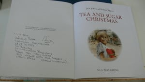 Andrew's inscription in his book