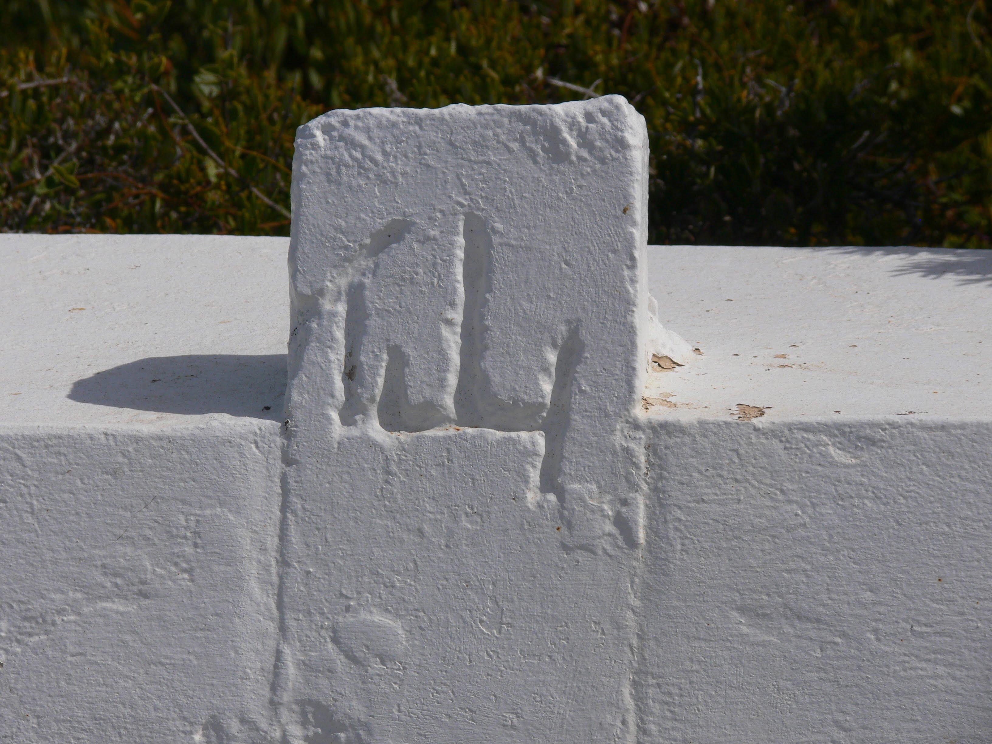 Markings on headstone