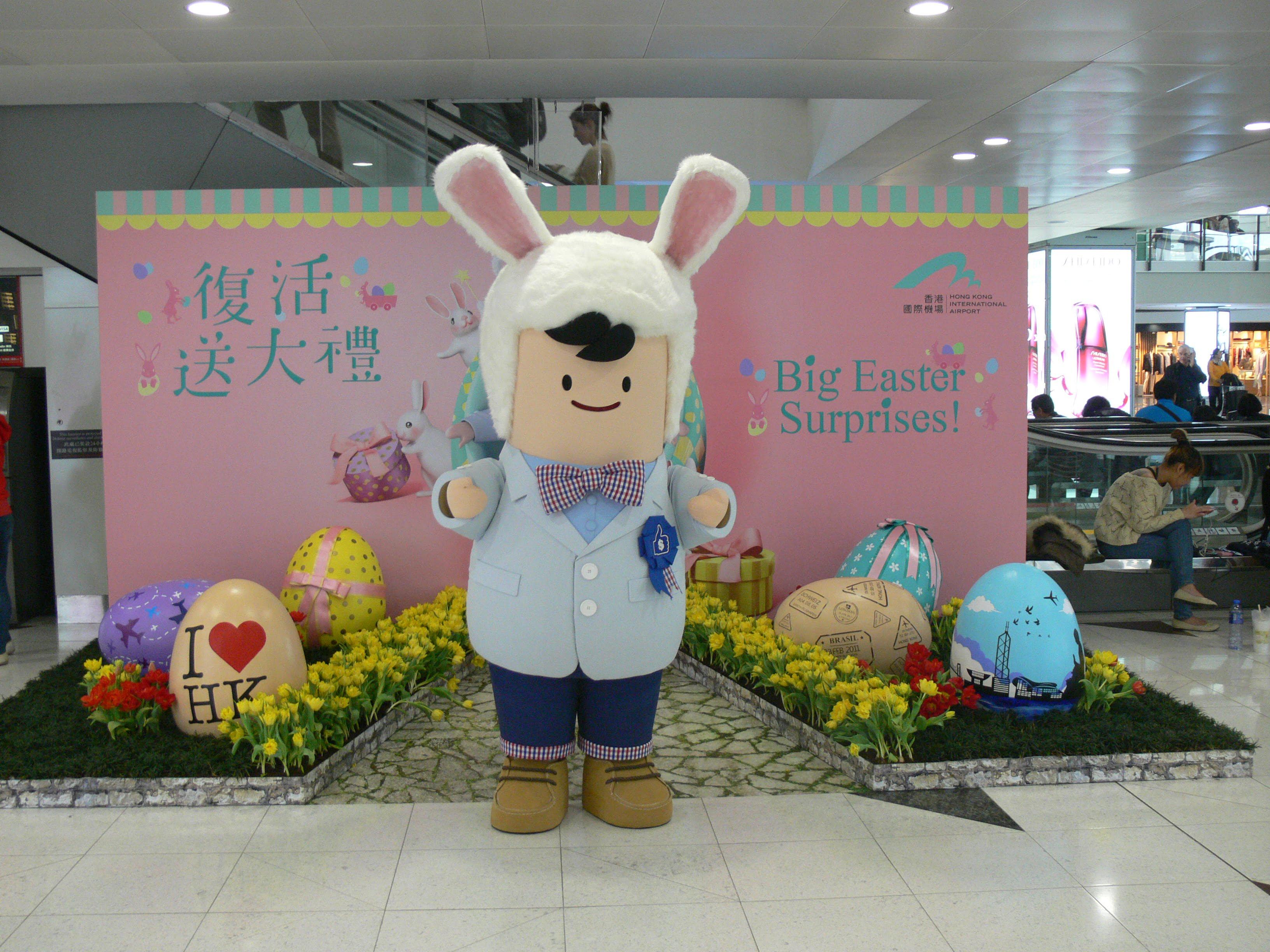Hong Kong Easter bunny!! Gotta love it.